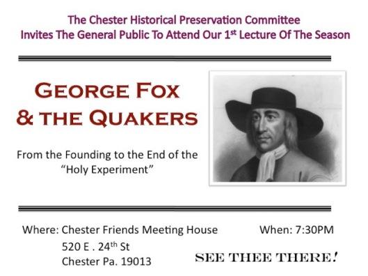 Ad Page Quaker Lecture