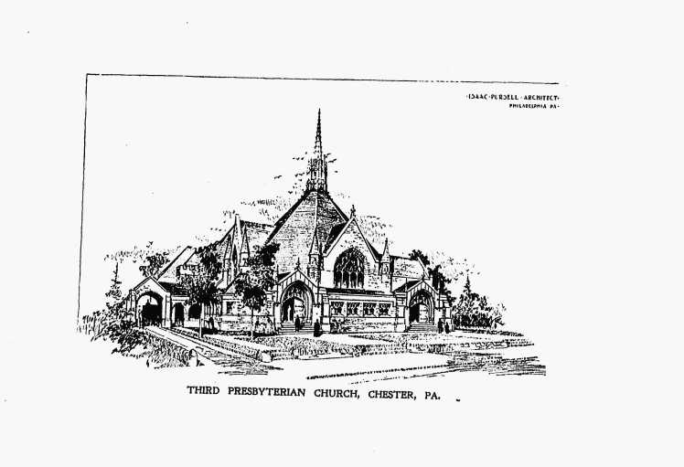 Isaac Purcell, Old Third Presbyterian Church, Chester, PA, Akron plan